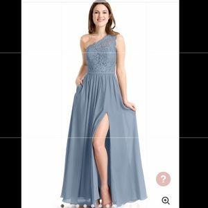 Azazie Demi Dusty Blue Size 0 - Bridesmaid dress